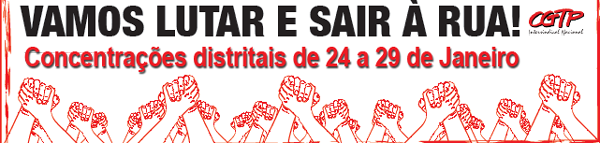Cartaz CGTP - concentraçoes distritais 24 a 29 jan 2011